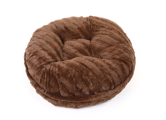 Chocolate Mink Bagel Bed