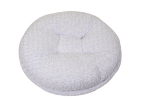 White Rosebud Bagel Bed