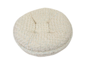 Baby Blue/Beige Rosebud Bagel Bed