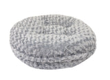 Light Grey Rosebud Bagel Bed
