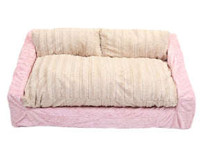 Charmant Baby Pink Mink U0026 Cream Mink Sofa Bed
