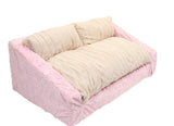 Baby Pink Mink & Cream Mink Sofa Bed