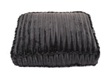 Black Mink Rectangle Bed