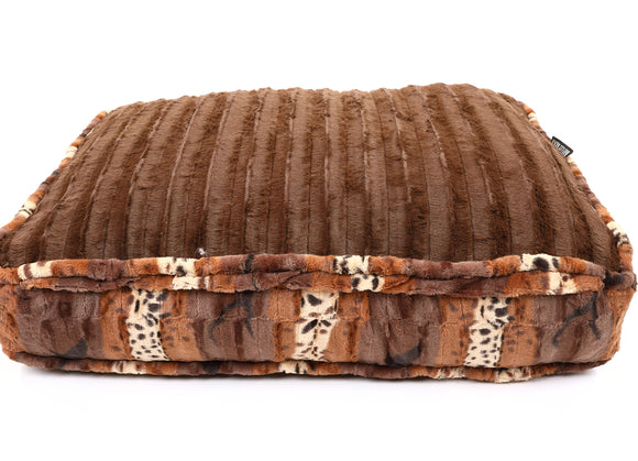 Exotic Brown with Brown Mink Rectangle Bed