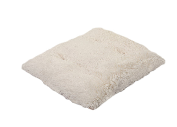 Cream Shag Pillow Bed