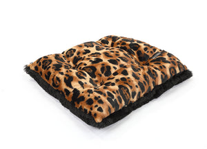 Big Cat with Black Shag Pillow Bed