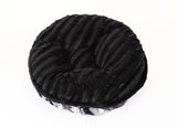 Exotic Black/Grey with Black Mink Bagel Bed