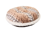 Snow Leopard & Chocolate Mink Bagel Bed