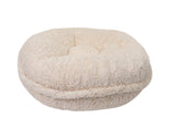 Crocodile Cream Mink Bagel Bed