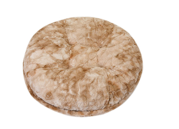 Beige Rabbit Bagel Bed