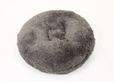 Grey Shag Bagel Bed