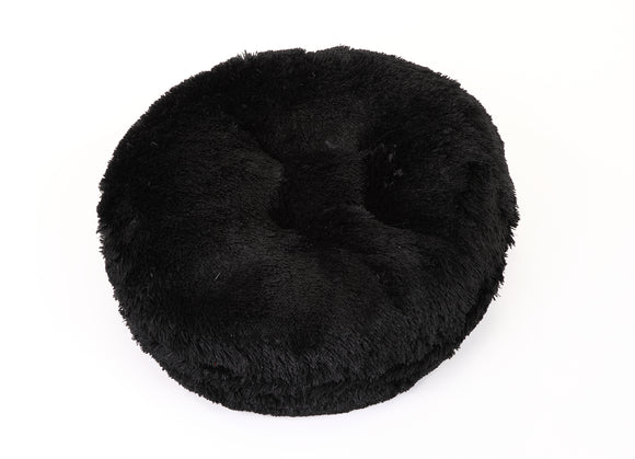Black Shag Bagel Bed