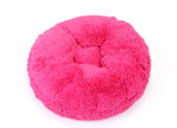 Hot Pink Shag Bagel Bed