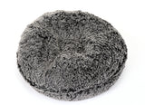 Black Frosted Shag Bagel Bed