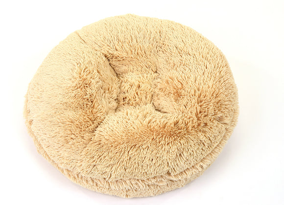 Camel Shag Bagel Bed