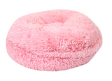 Light Pink Shag Bagel Bed