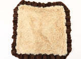 Exotic Fur Brown/Gold and Camel Shag Blanket