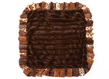 Exotic Fur Brown/Gold and Chocolate Mink Blanket