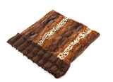 Exotic Fur Brown/Gold & Brown Mink Cuddle Pouch