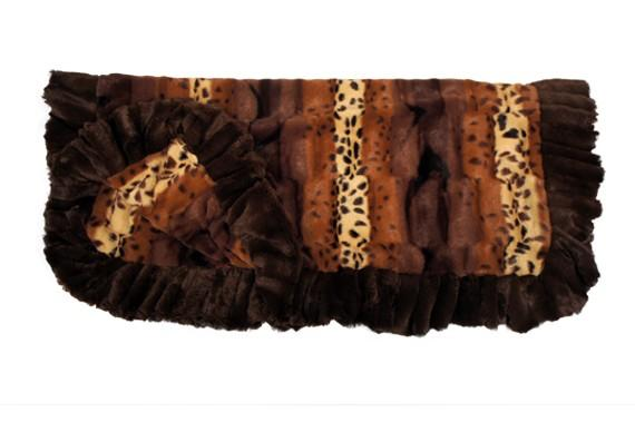 Exotic Fur Brown/Gold Blanket