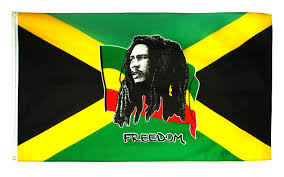 Bob Marley Freedom Flag 3x5