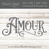 Vintage Elaborate Amour SVG File - Commercial Use SVG Files