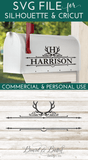 Antler Mailbox Monogram Frame SVG File - Commercial Use SVG Files