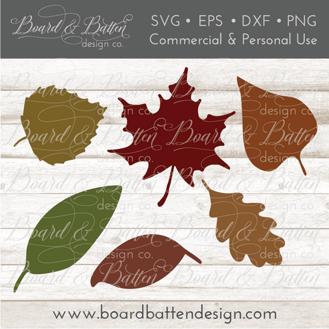 Autumn Leaves Set SVG File