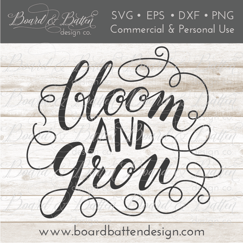 Bloom And Grow Gardening SVG File