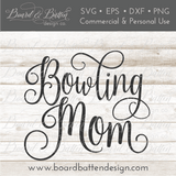 Bowling Mom - Commercial Use SVG Files