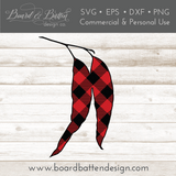 Buffalo Plaid Gum Leaves/Eucalyptus Shape Layered SVG - Commercial Use SVG Files