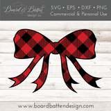 Buffalo Plaid Shape - Christmas Bow SVG - Commercial Use SVG Files