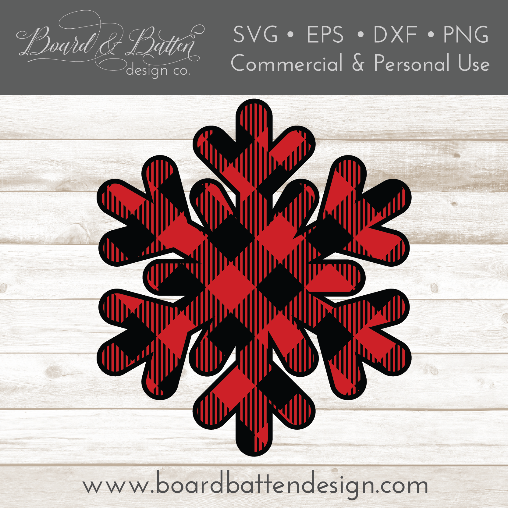 Buffalo Plaid Snowflake Shape Layered SVG - Commercial Use SVG Files