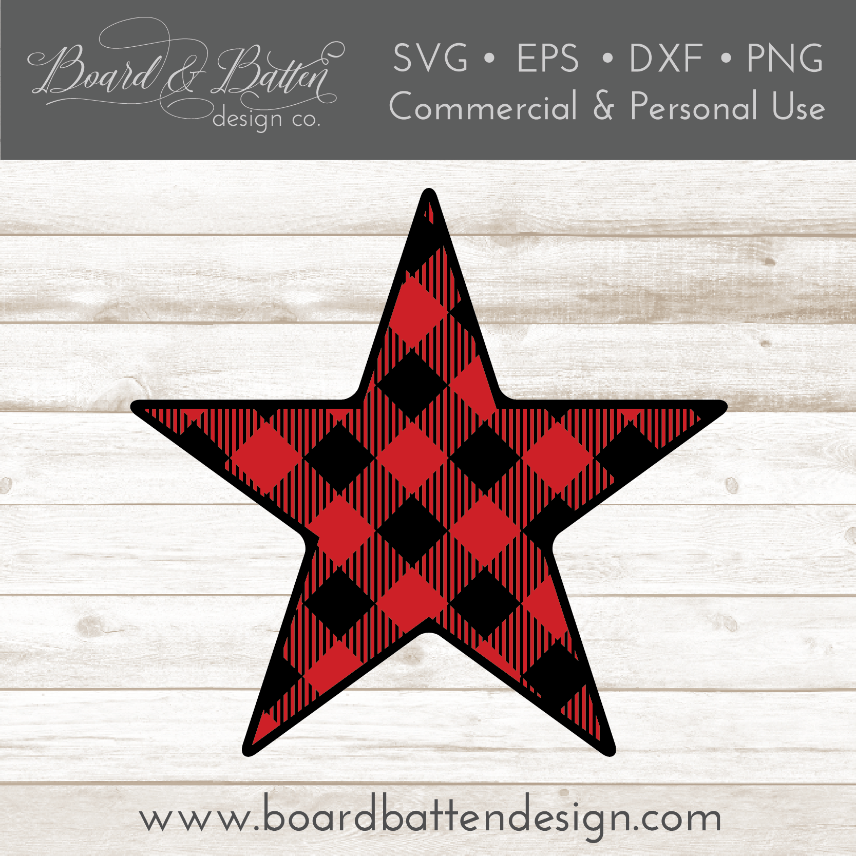 Buffalo Plaid Star Shape Layered SVG - Commercial Use SVG Files