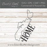 "Nova Scotia NS  ""Home"" Outline SVG File - Canadian Province - Commercial Use SVG Files"