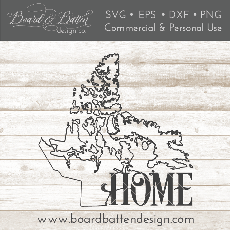 "Nunavut NU  ""Home"" Outline SVG File - Canadian Province - Commercial Use SVG Files"