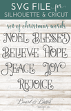 Christmas Words SVG Set 1 - Commercial Use SVG Files