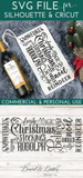 Christmas Subway Art SVG for Wine Bottle Bag - Commercial Use SVG Files