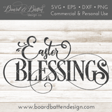 Easter Blessings SVG File - Commercial Use SVG Files
