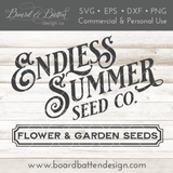 Endless Summer Seed Company SVG File for Gardeners - Commercial Use SVG Files