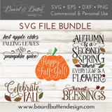 Fall & Autumn SVG File Bundle - Commercial Use SVG Files