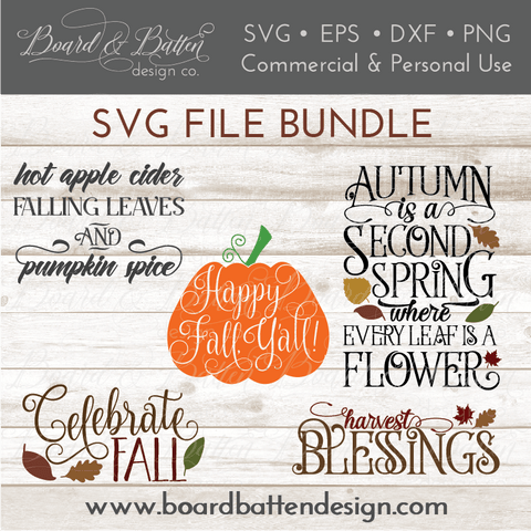 Fall & Autumn SVG File Bundle