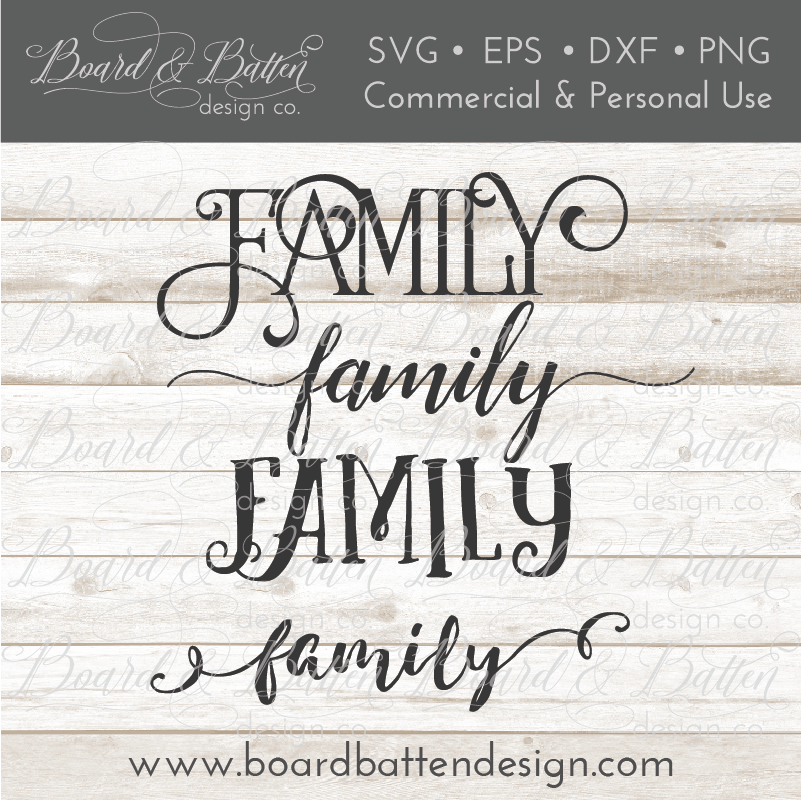 Family SVG File Multi Style Bundle - Commercial Use SVG Files
