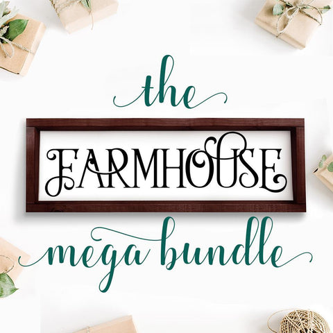 Farmhouse Style Mega SVG file Bundle