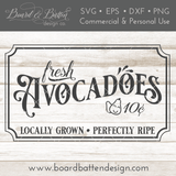 Fresh Avocadoes Vintage Sign SVG File - Commercial Use SVG Files