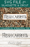 Farmhouse Style Fresh Carrots SVG File - Commercial Use SVG Files