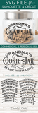 Cookie Jar SVG File With Name Variations - Commercial Use SVG Files