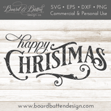 Happy Christmas SVG File - Commercial Use SVG Files