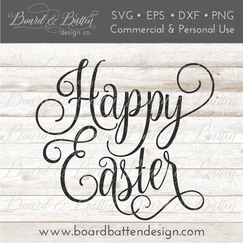 Happy Easter SVG File - Commercial Use SVG Files