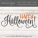 Happy Halloween SVG File - Commercial Use SVG Files